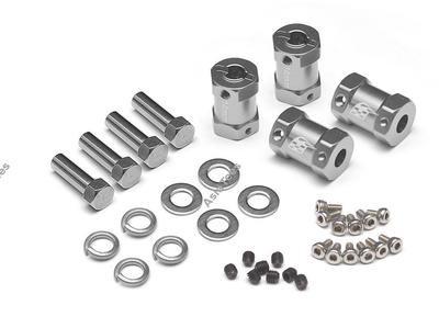 Boom Racing KRAIT™ Aluminum 12mm Wheel Hex Widener (4) (Offset: 14mm) - Gun Metal