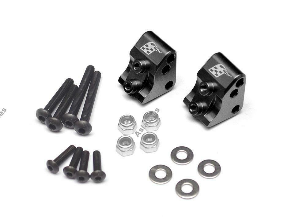 Boom Racing Aluminum AR44 Link Mounts for SCX10 II (2) Black for Axial SCX10 II