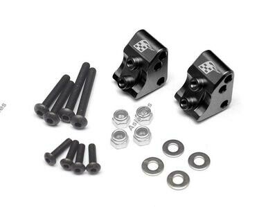 Boom Racing Aluminum AR44 Link Mounts for SCX10 II (2) Black for Axial SCX10 II