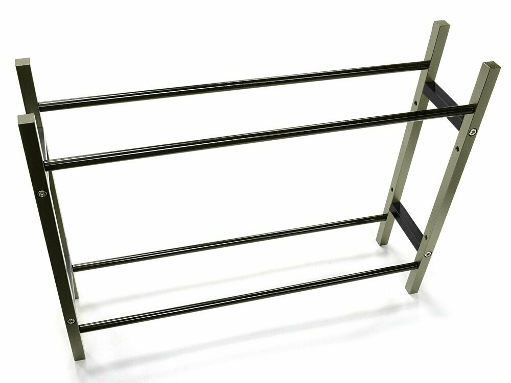 Integy Wheel & Tire Storage Rack 10.5x2.5x8 Inch for 1/10 & 1/8 Scale (Gunmetal) C26924GUN