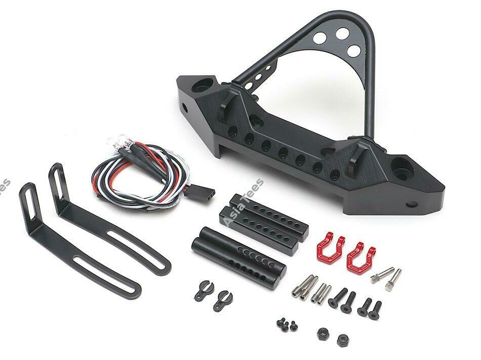 Team Raffee Co. CNC Aluminum Rubicon Front Bumper with LED Black