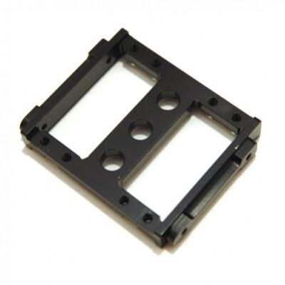 STRC CNC Machined Aluminum Heavy Duty Servo Mount Tray for Associated Enduro (Black)