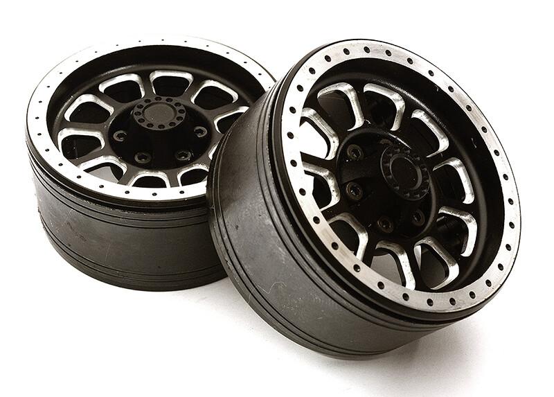 Integy 1.9 Size Billet Machined Alloy 10 Spoke Wheel(2)High Mass Type for Scale Crawler C28954BLACK