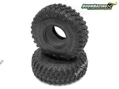 Boom Racing HUSTLER M/T Xtreme 1.9 MC2 Narrow Rock Crawling Tires 4.75x1.50 SNAIL SLIME™ Compound W/ 2-Stage Foams (Super Soft)