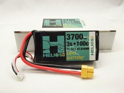 Helios RC 3S 3700 mAh 100c Shorty Lipo (XT60)
