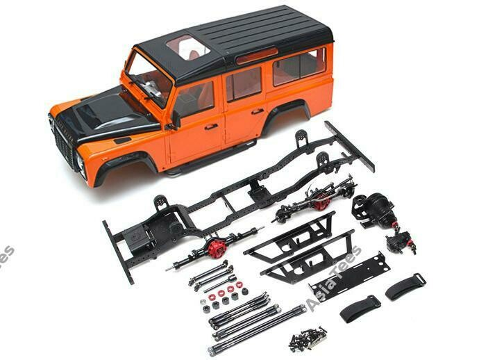 Boom Racing 1/10 D110 Chassis Kit (Without Wheels Tires Shocks) w/ TRC Raffee Defender D110 Station Wagon Hard Body