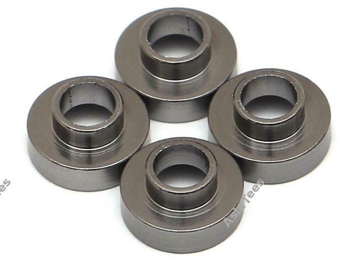 Team Raffee Co. Aluminum Servo Washer (4) 3x7.5mm Gun Metal