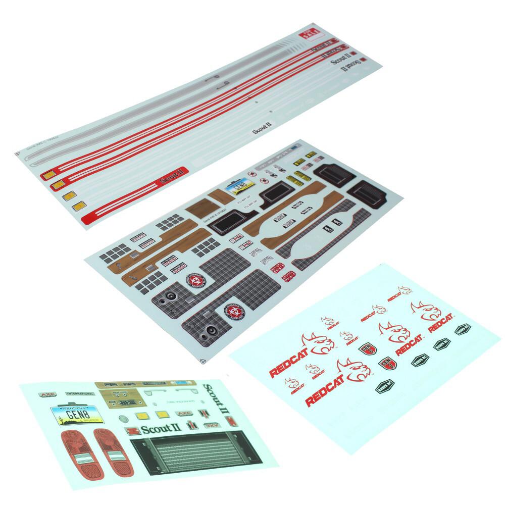 Redcat Gen8 Axe Sticker Sheet