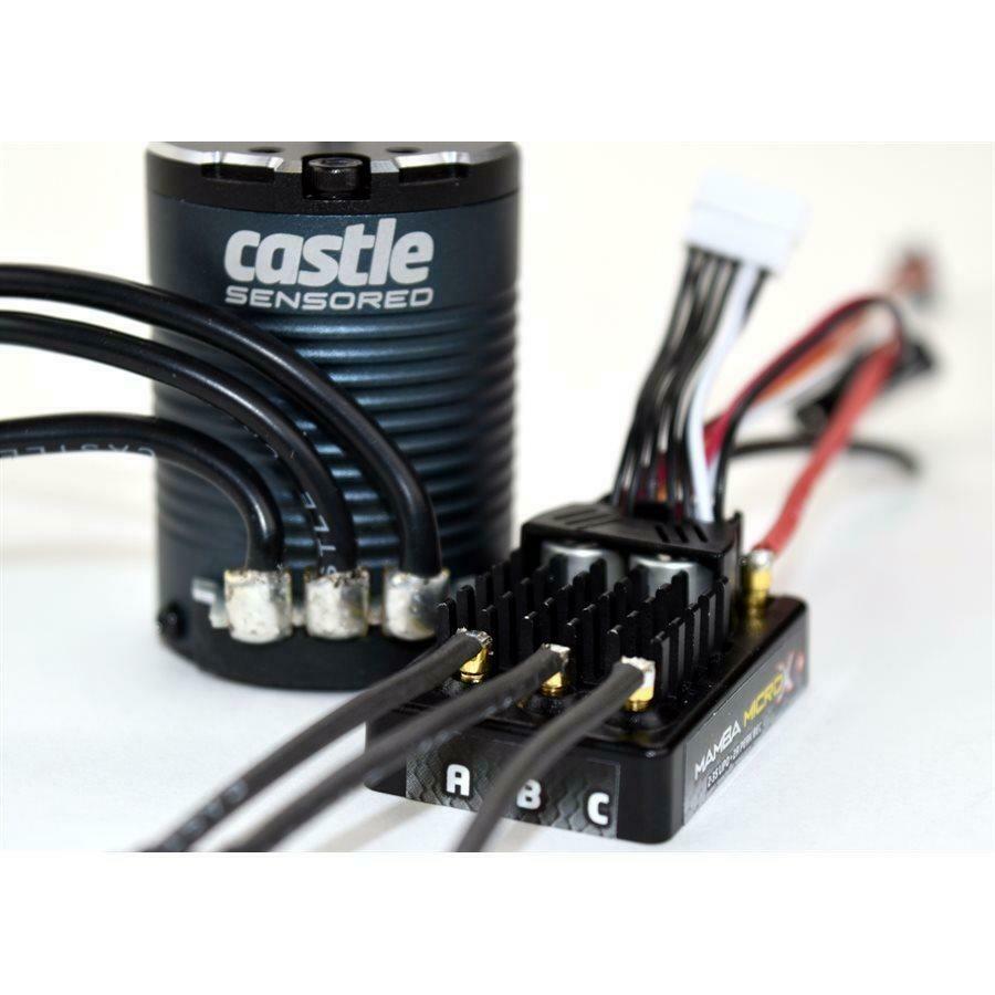 Castle Creations Mamba Micro X Crawler Edition ESC With 1406-2850KV Sensored Motor Combo