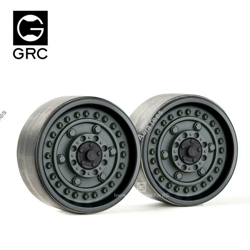 GRC 1.9 Metal Beadlock Wheels #Series VI (2) Black