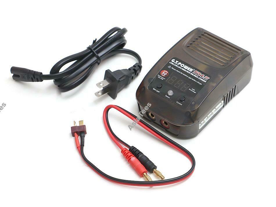 G.T. Power SD4 III 50W 4A AC LiPo/LiHv/LiFe/NiCd/ NiMH Battery Balance Charger