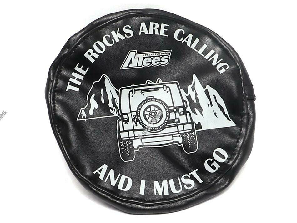 ATees Soft Faux Leather Tire Cover For 1.9 Crawler Tires - The Rocks Are Calling