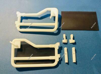 BA Model Studio 1/10 Scale Tube Door (2) for Boom Racing BRX01 or LC70 Body