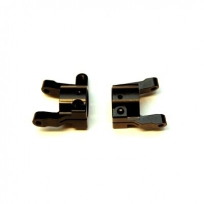 STRC CNC Machined Brass C-hubs for Element Enduro (Black) 1 pair