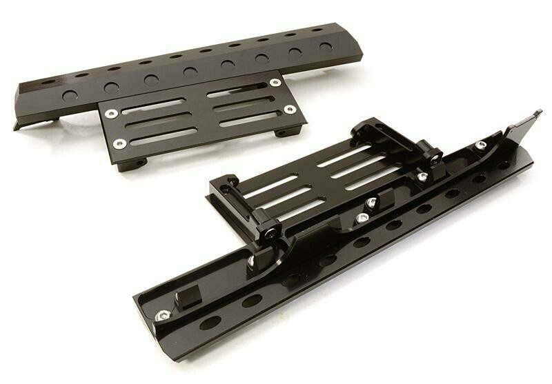 Integy Billet Machined Realistic Deluxe Side Step for SCX-10, Dingo, Honcho & Jeep C26892BLACK