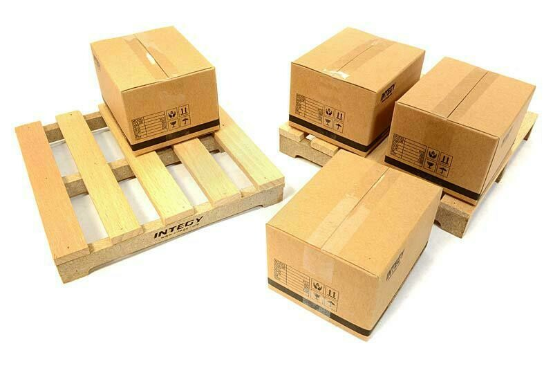 Integy Realistic Wooden Pallet & Packaging Box Kit for 1/10 Scale Crawler C26622