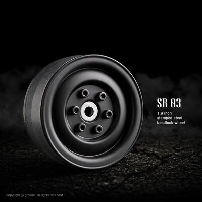 Gmade 1.9 SR03 Beadlock Wheels (Matt Black) (2) GMA70184