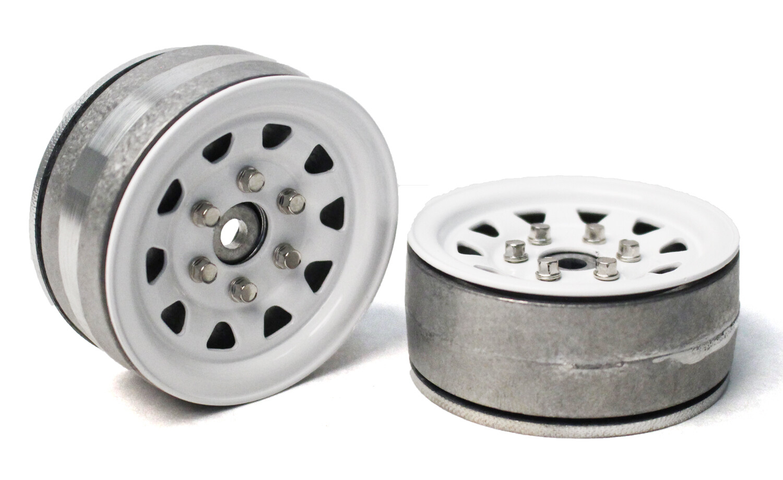 "Gmade 1.9"" SR04 Beadlock Wheels (Gloss White) (2) GMA70496"