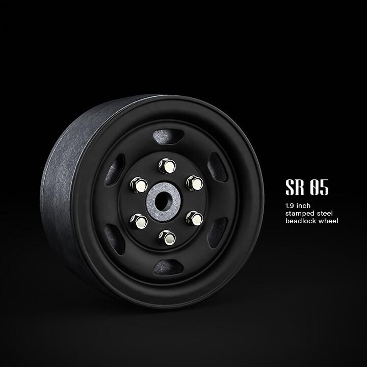 "Gmade 1.9"" SR05 Beadlock Wheels (Matt Black) (2) GMA70504"