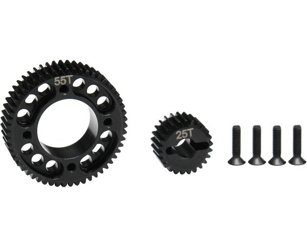 Hot Racing Stealth X Drive UD3 Gear Set, Machined, for Associated Enduro