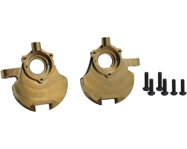Hot Racing Heavy Metal Brass Front Knuckle, for Red Cat Gen 8