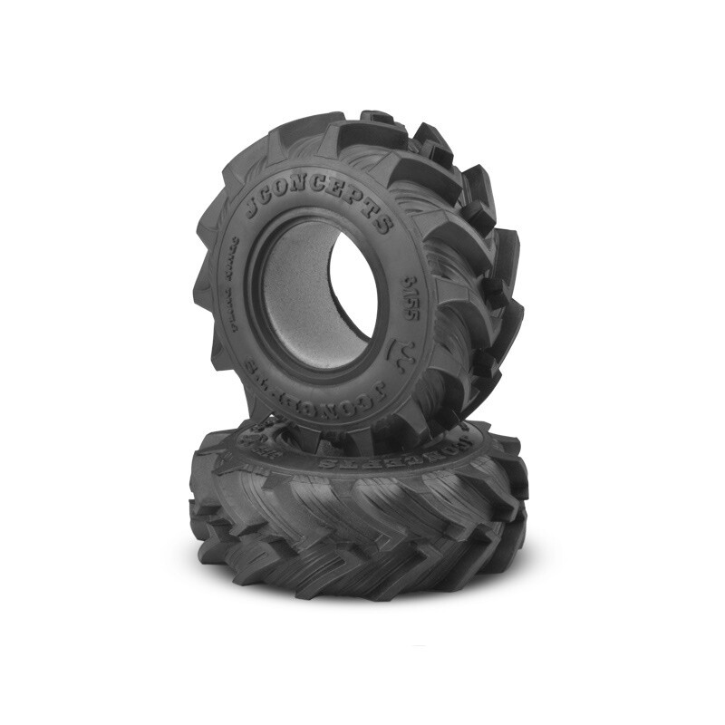 "Jconcepts Fling King Mega Truck Tire, 2.6"", Soft, Gold Compound"