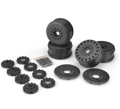 Jconcepts Cheetah 83mm Speed-Run Wheel w/ 12 & 17mm Hex Adaptor, 4pc, Black