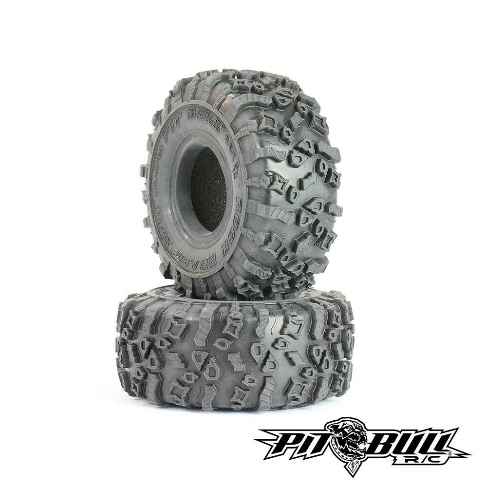 "Pitbull Tires Rock Beast XOR 1.55"" Crawler Tires, Alien Kompound, with Foams, (2)"