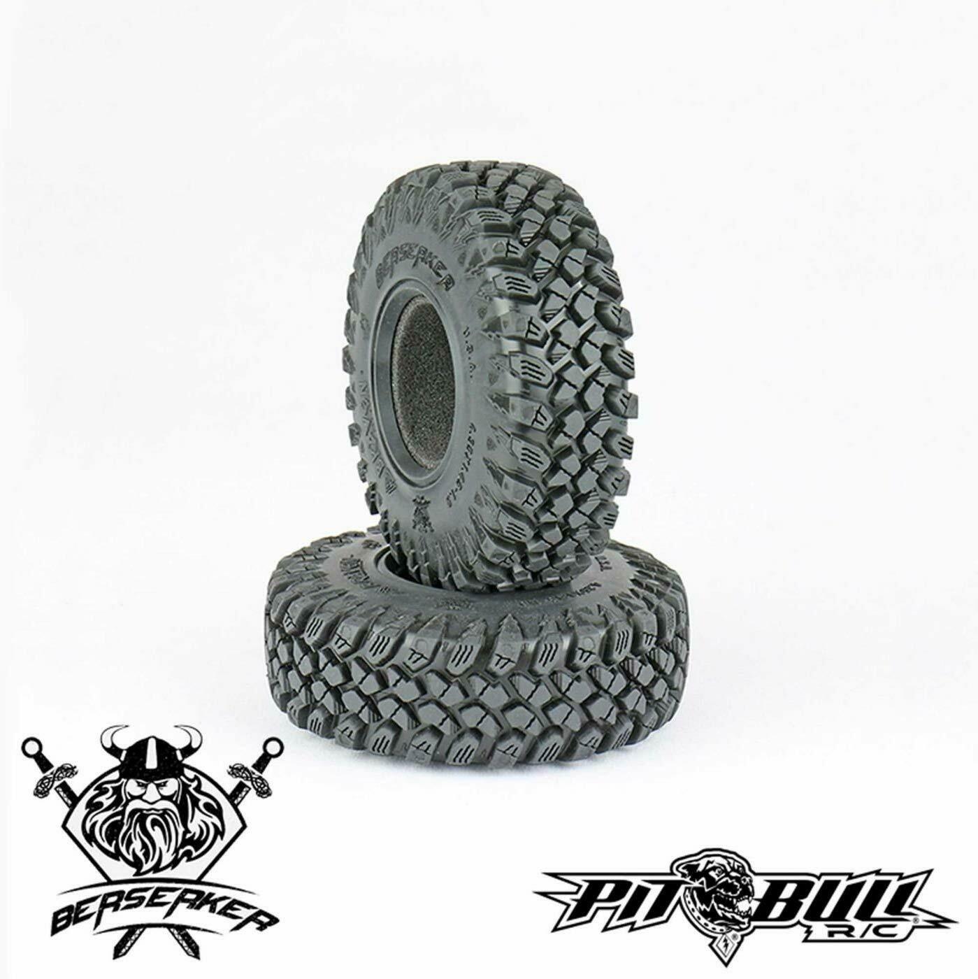 "Pitbull Tires Braven Berserker 1.55"" Scale Crawler Tires, Alien Kompound, w/ Foams, (2)"