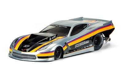 Proline Chevrolet Corvette C7 Pro Mod Clear Body, for Slash 2WD Drag Racer