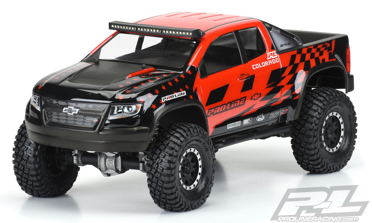 "Proline Chevy Colorado ZR2 Clear Body, for 12.3"" Wheelbase, Crawlers"
