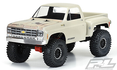"""Proline 1978 Chevy K-10 Clear Body (Cab & Bed) for 12.3"""" (313mm) Wheelbase Scale Crawlers"""