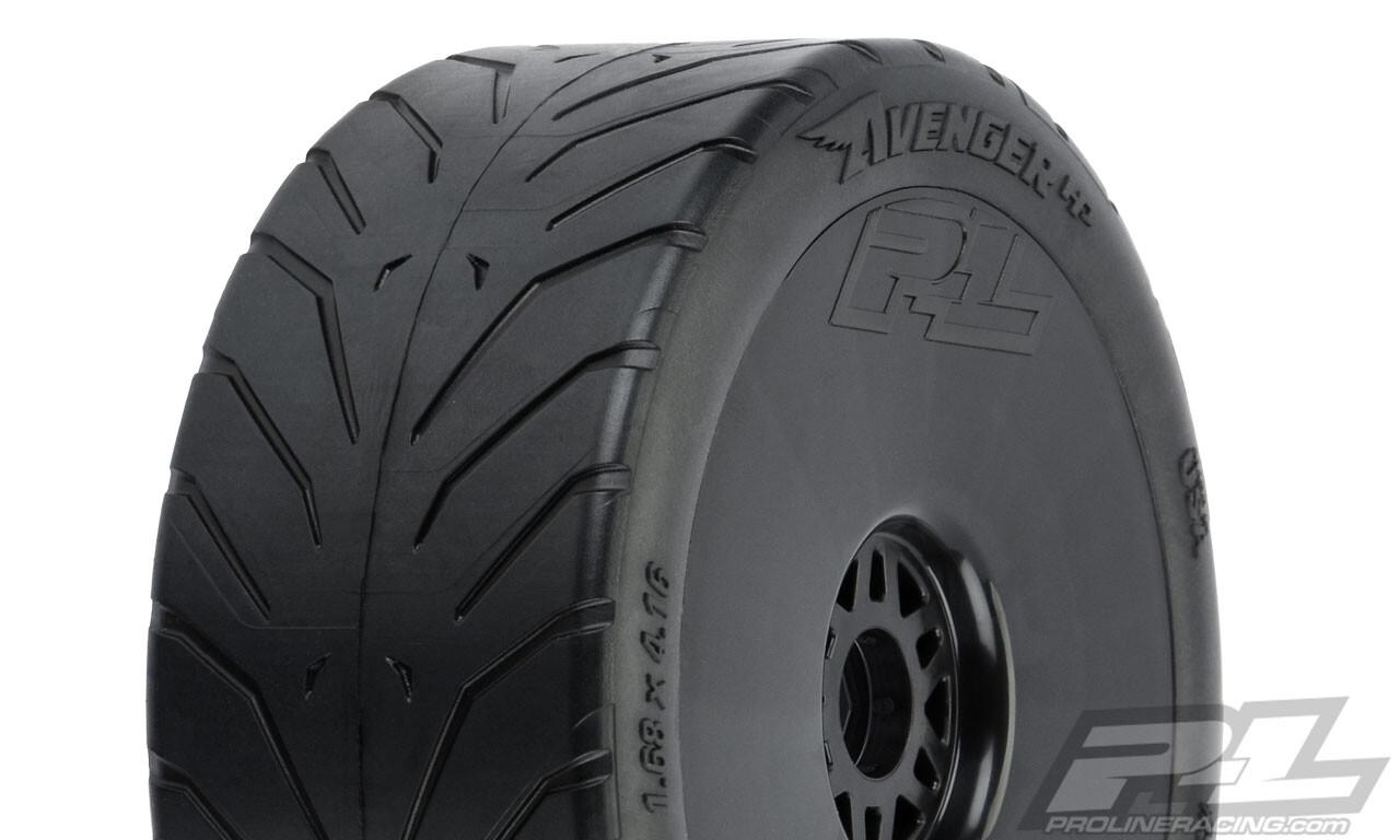 Proline Avenger HP S3 (Soft) Street BELTED 1:8 Buggy Tires, Mounted