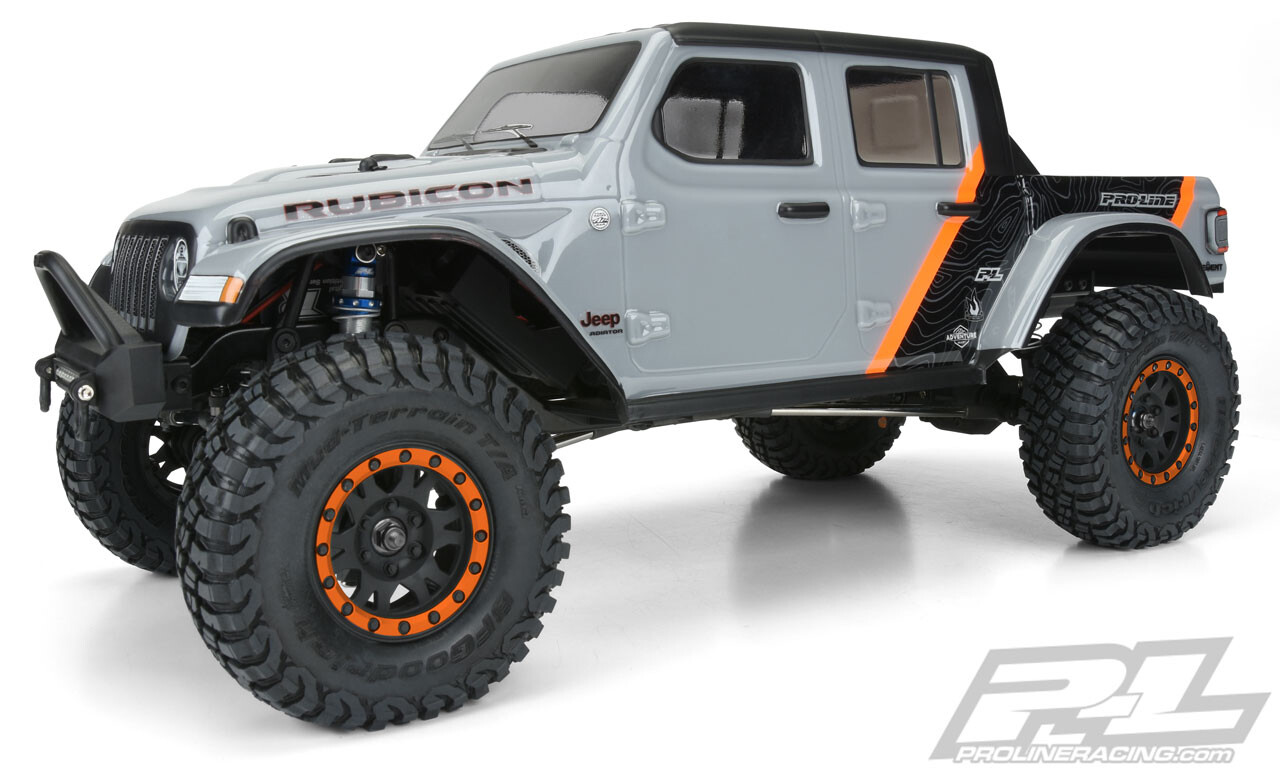 """Proline 2020 Jeep Gladiator Clear Body, for 12.3"""" Wheelbase Scale Crawlers"""
