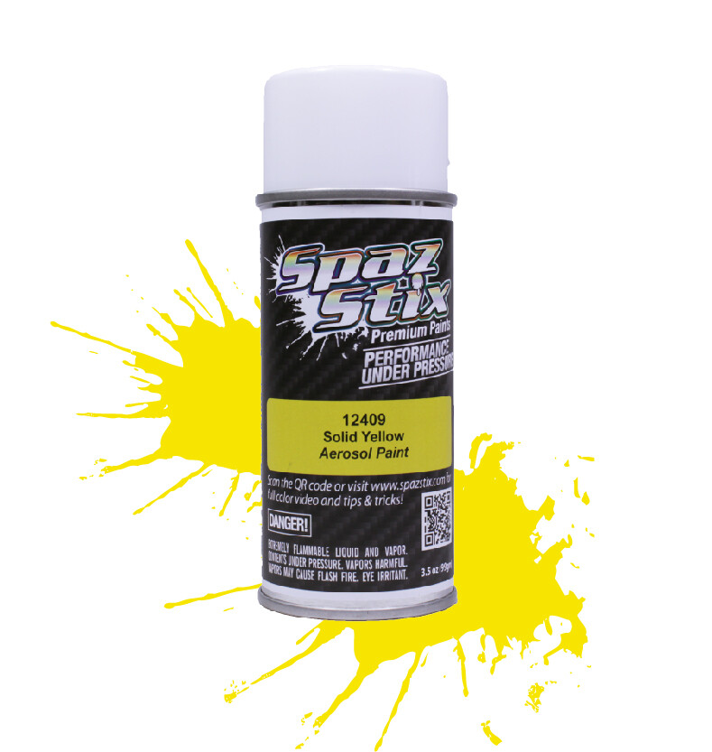 Spaz Stix Solid Yellow Aerosol Paint, 3.5oz Can