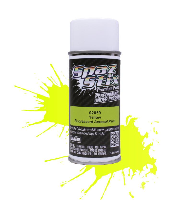 Spaz Stix Yellow Fluorescent Aerosol Paint, 3.5oz Can