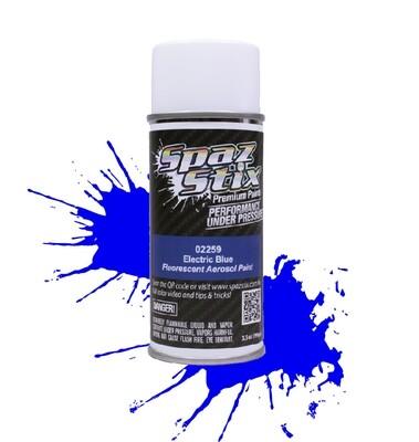 Spaz Stix Electric Blue Fluorescent Aerosol Paint, 3.5oz Can