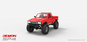 Cross R/C SP4A 1/10 Demon 4x4 Crawler Kit, w/ Full Hard Body Basic