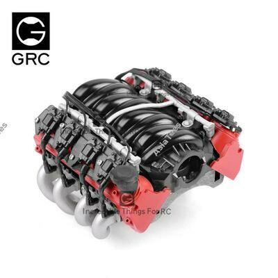 GRC LS7 Simulated V8 Engine/ Motor Heat Sink Cooling Fan For Crawler 36mm Motor Red