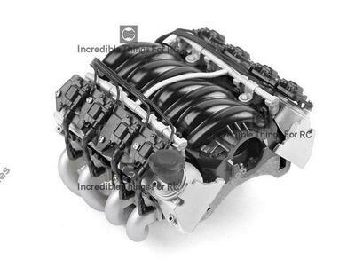 GRC LS7 Simulated V8 Engine/ Motor Heat Sink Cooling Fan For Crawler 36mm Motor Silver