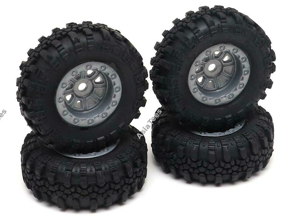 RGT Swamper Tire & Wheel Set ( Metal Gun ) for ECX Barrage/ FTX Outback/ RGT Adventurer for 1/24 ADVENTURER