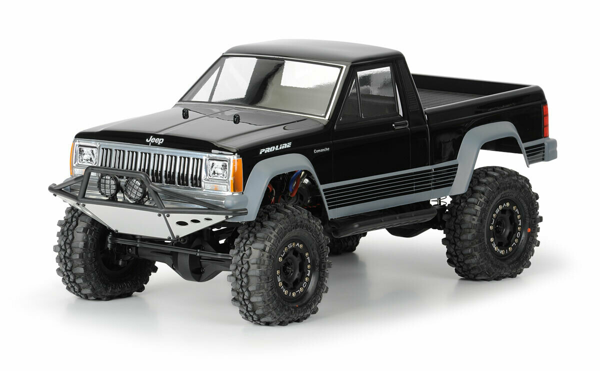 """Proline Racing Jeep Comanche Full Bed Clear Body for 12.3"""" (313mm) Wheelbase Crawlers"""