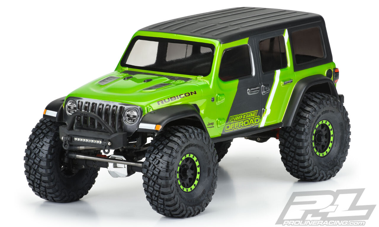 "Proline Jeep Wrangler JL Unlimited Rubicon Clear Body, for 12.3"" (313mm) Wheelbase Scale Crawlers"