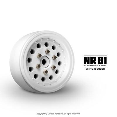 Gmade 1.9 NR01 Beadlock Wheels (White) (2) GMA70226