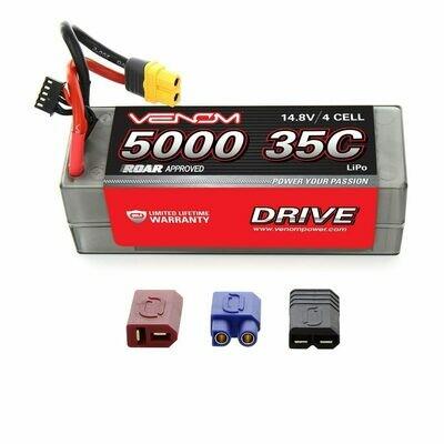 Venom DRIVE 35C 4S 5000mAh 14.8V LiPo Hardcase ROAR Battery with UNI 2.0 Plug