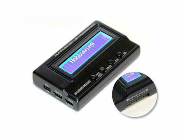 Hobbywing Multifunction LCD Professional Program Box, ESC Programmer, LiPo Battery Voltmeter, USB Adapter