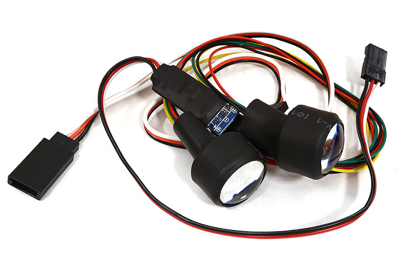 Dual Color 4 LED Front Headlight for 1/10 Scale Crawler (5 Modes-Ch3 Control) C29065