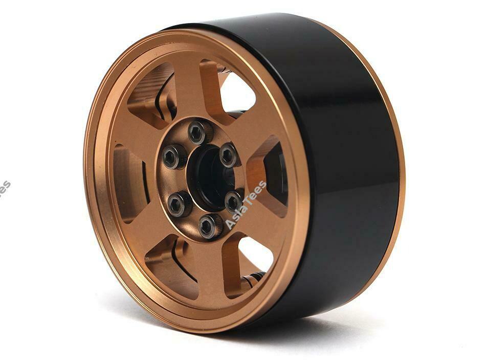 Boom Racing TE37X KRAIT™ 1.9 Aluminum Beadlock Wheels w/ XT606 Hubs (4) Bronze