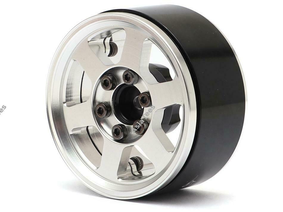 Boom Racing TE37X KRAIT™ 1.9 Aluminum Beadlock Wheels w/ XT606 Hubs (4) Silver