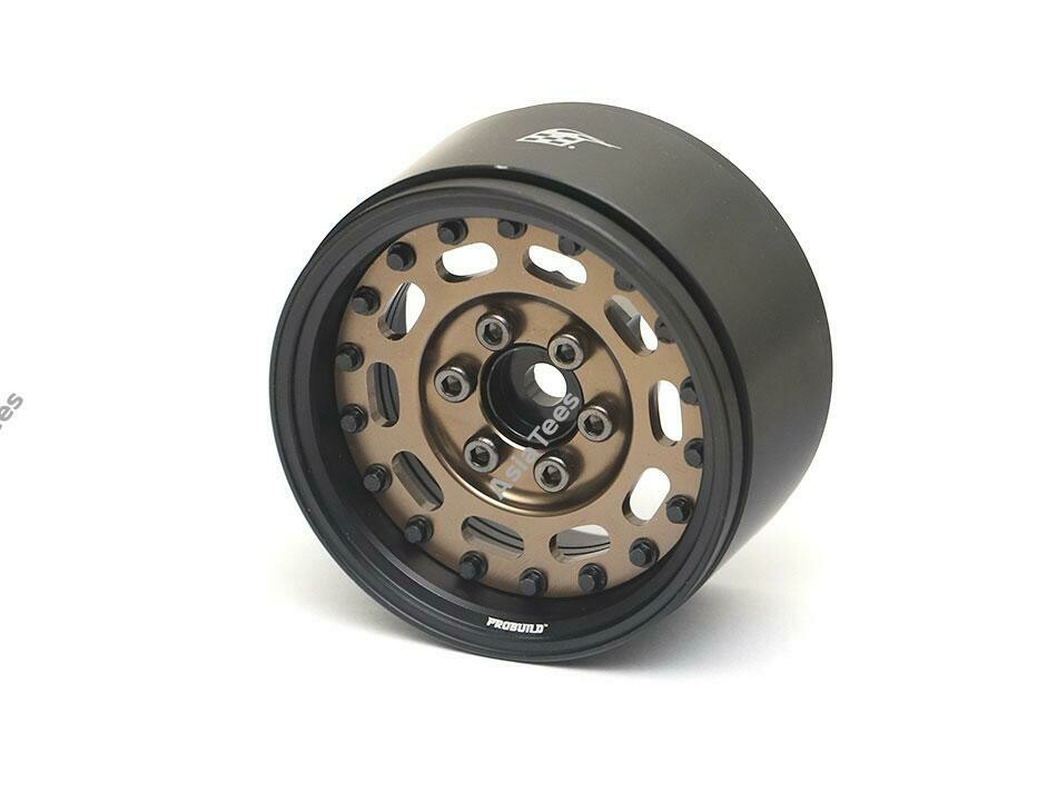 "Boom Racing ProBuild 1.9"" MAG-10 Adjustable Offset Aluminum Beadlock Wheels (2) Matte Black/Bronze (Preorder/Prepay)"